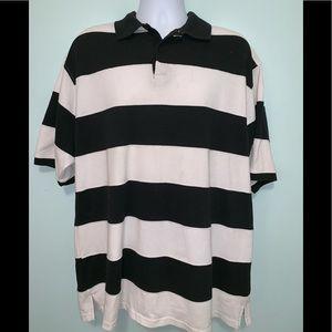 Men's 3XL Black/White Stripe Polo Used